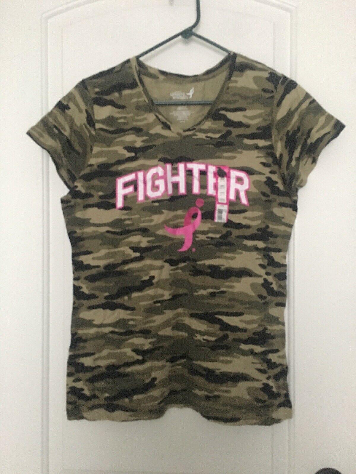 Susan Komen Woherren Breast Cancer FIGHTER Short Sleeve T Shirt Sz L Top Clothes