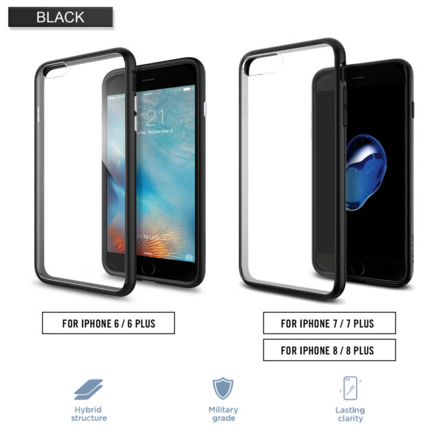 newest collection 1c5f1 3e4b0 Spigen iPhone 7 Ultra Hybrid Series Cases Black