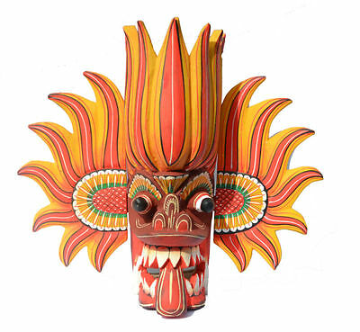 Sri Lankan handmade Gini Raksha home decorative wall hanging mask