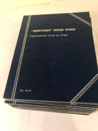 Vintage WHITMAN MERCURY HEAD DIME 1916 to 1945 Coin Album 9014