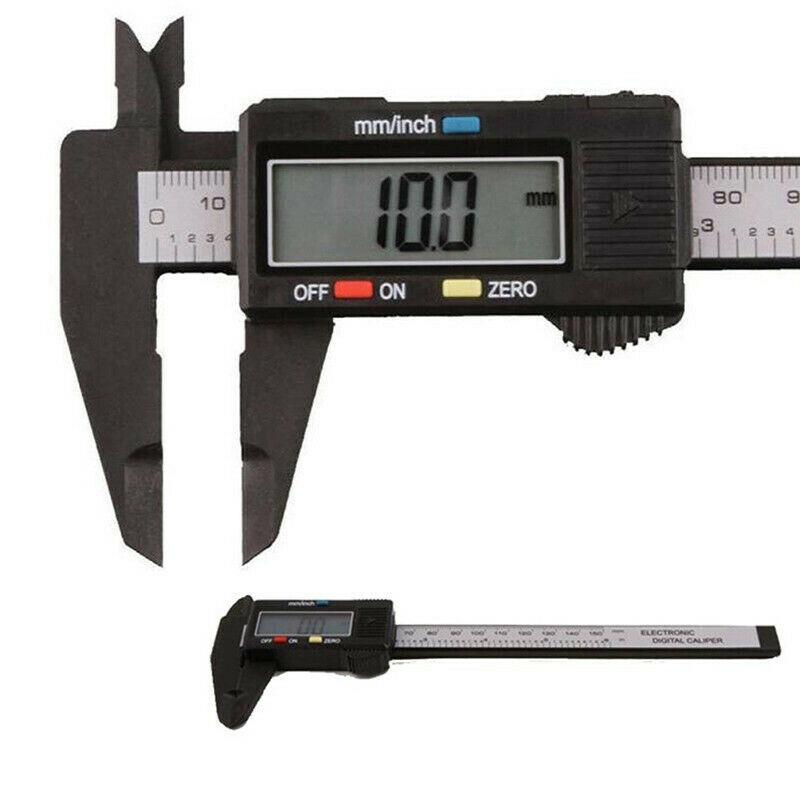 WEI-LUONG tools 150mm 6 inch LCD Digital Electronic Carbon Fiber Vernier Caliper Gauge Micrometer Measuring Tool Caliper Ruler Digital Calipers Micrometer
