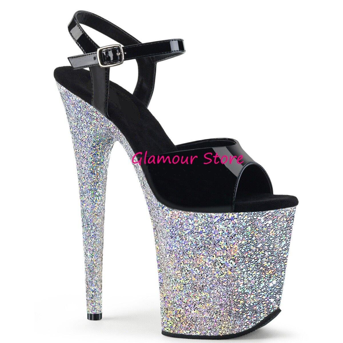 SEXY sandali MULTICOLOR plateau metal TACCO 15 dal GLAMOUR 35 al 44 fashion GLAMOUR dal ! 5ff5d8