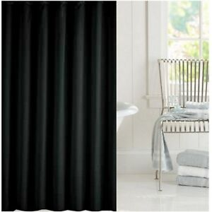 Image Is Loading Clearance Jet Black Fabric Shower Curtain 1 8m