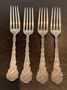 """Gorham Versailles Pattern 4 Sterling Silver 6 5/8"""" Forks 220 Grams"""