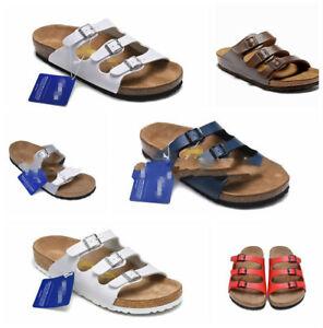 EUR-35-45-Women-039-s-Birkenstock-Arizona-Birko-Flor-Sandals-Men-039-s-Flip-Flops-Shoes