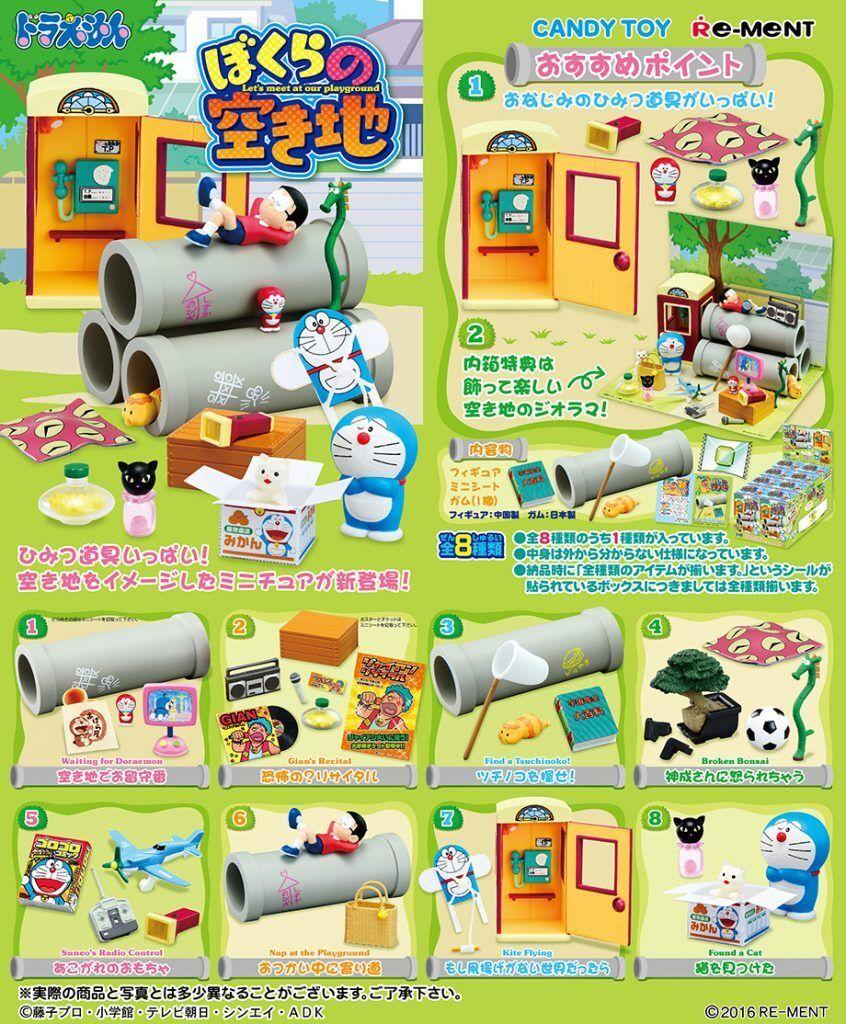 Re-Ment Miniature Japan Doraemon Let's Meet at our Playground Full Set of 8 pcs