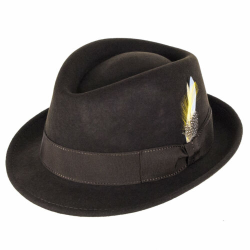 Felt Trilby City Delta Sport Marrone Caps Wool qvqT84w