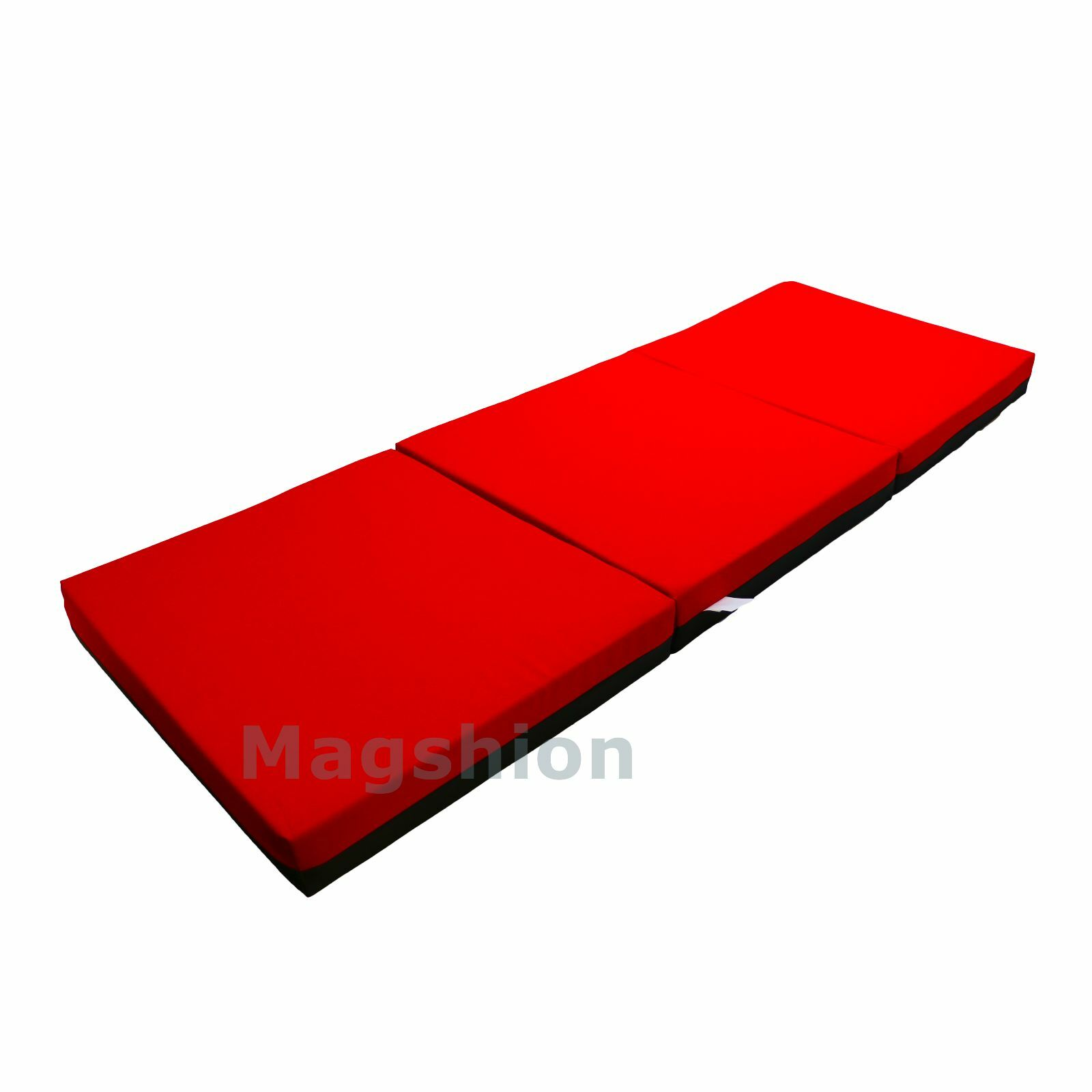 4 Inch Memory Foam Firm Mattress Trifolding Bed Pad Floor Mat Red Black 4 Size Ebay