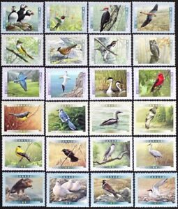 CANADA-BIRDS-of-CANADA-series-1996-2001-6-Complete-Sets-24-stamps-Mint-NH