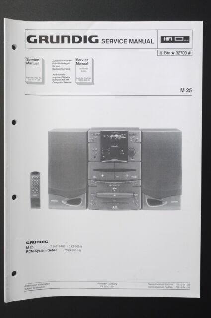 Grundig M 25 Original Service Manual  Service Manual  Wiring Diagram  Diagram O30