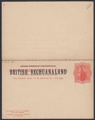 Bezahlt Antwort Postkarte H & G 9 1883 Postfrisch Hohe Sicherheit Briefmarken Bechuanaland