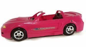 Pink Car For Barbie Ford Mustang, Glam Convertible Toy Doll Starletz w/box tear