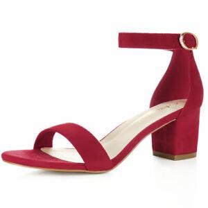 deep red heeled sandals