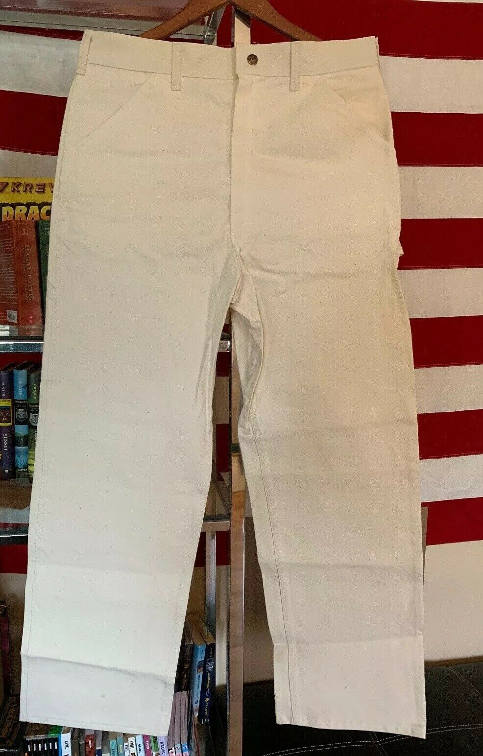 Vintage Painter Work Jeans Carpenter White 100% Cotton Sears Work Leisure Pants.