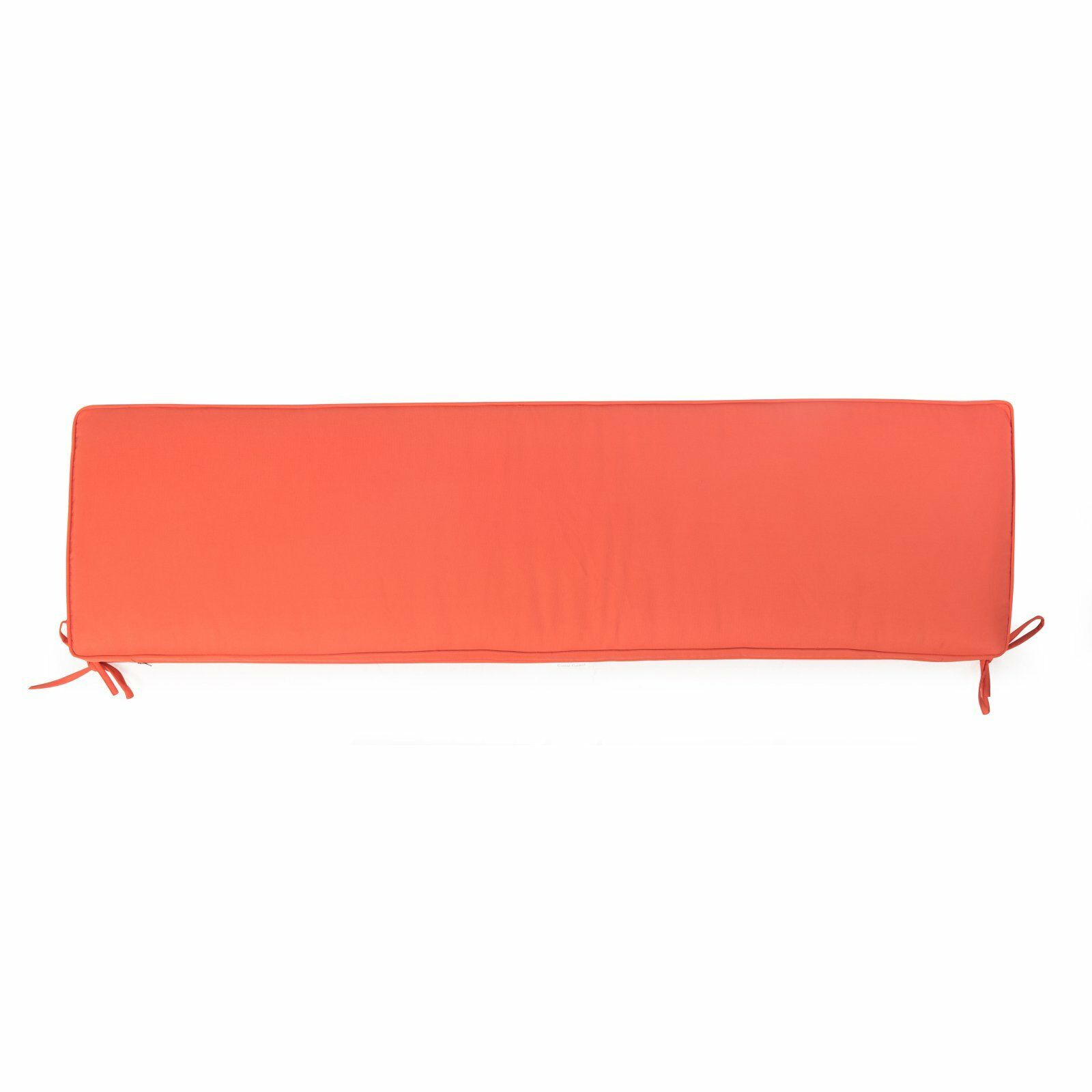 Solid Coral Outdoor Bench Cushion Swing 53  x 14 14 14  Seasonal Replacement 4e3e2f
