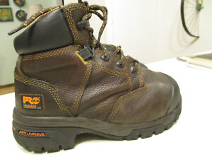 cfb61df661a Details about Timberland Pro Series Steel Toe Brown Leather Work Boots  Men's size 5 M