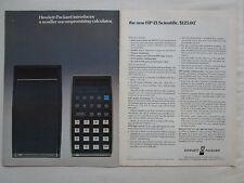 2/1975 PUB HP HEWLETT PACKARD HP-21 SCIENTIFIC CALCULATOR CALCULATRICE AD