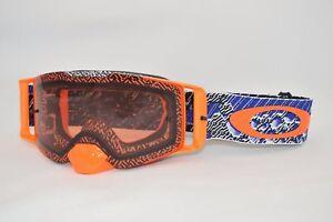 00d2f09340e Details about Mask Oakley Front Line Mx Dazzle Dyno Blue Orange Prizm  Bronze oo7087-16