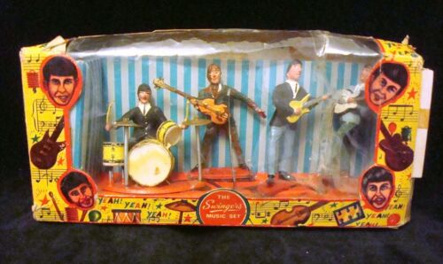 THE BEATLES SWINGERS MUSIC SET Cake Toppers in box 1960's