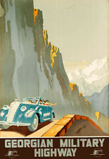 Art Ad Motor Moto Auto Georgian military highway Deco   Travel  Poster Print