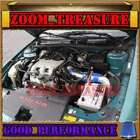 Blue 1997-2003/97-03 Chevy Malibu 3.1l V6 Full Cold Air Intake Kit 3pc