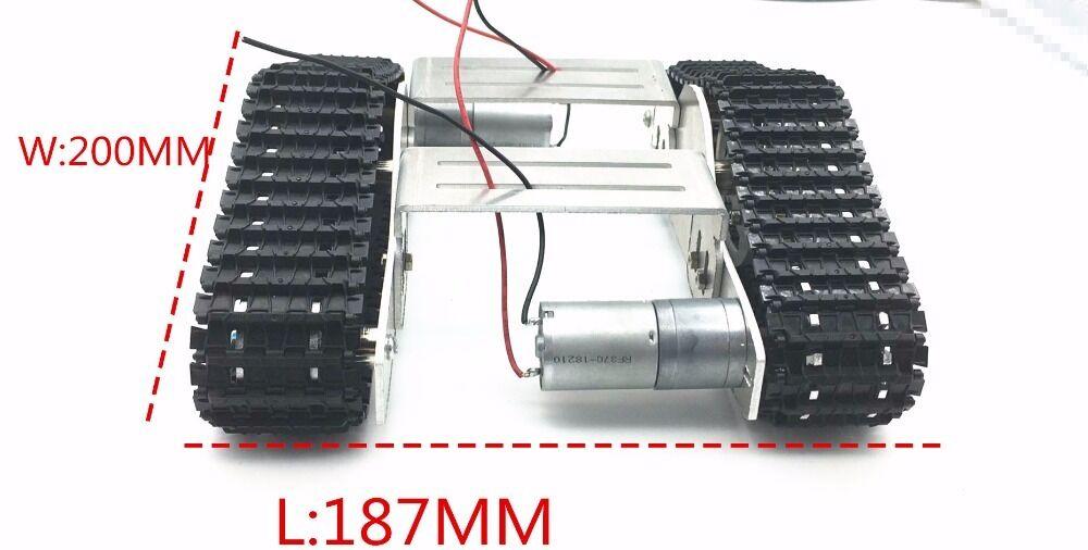 Aluminium Platform Damping Metal Tank Robot Chassis Creative DIY crawler
