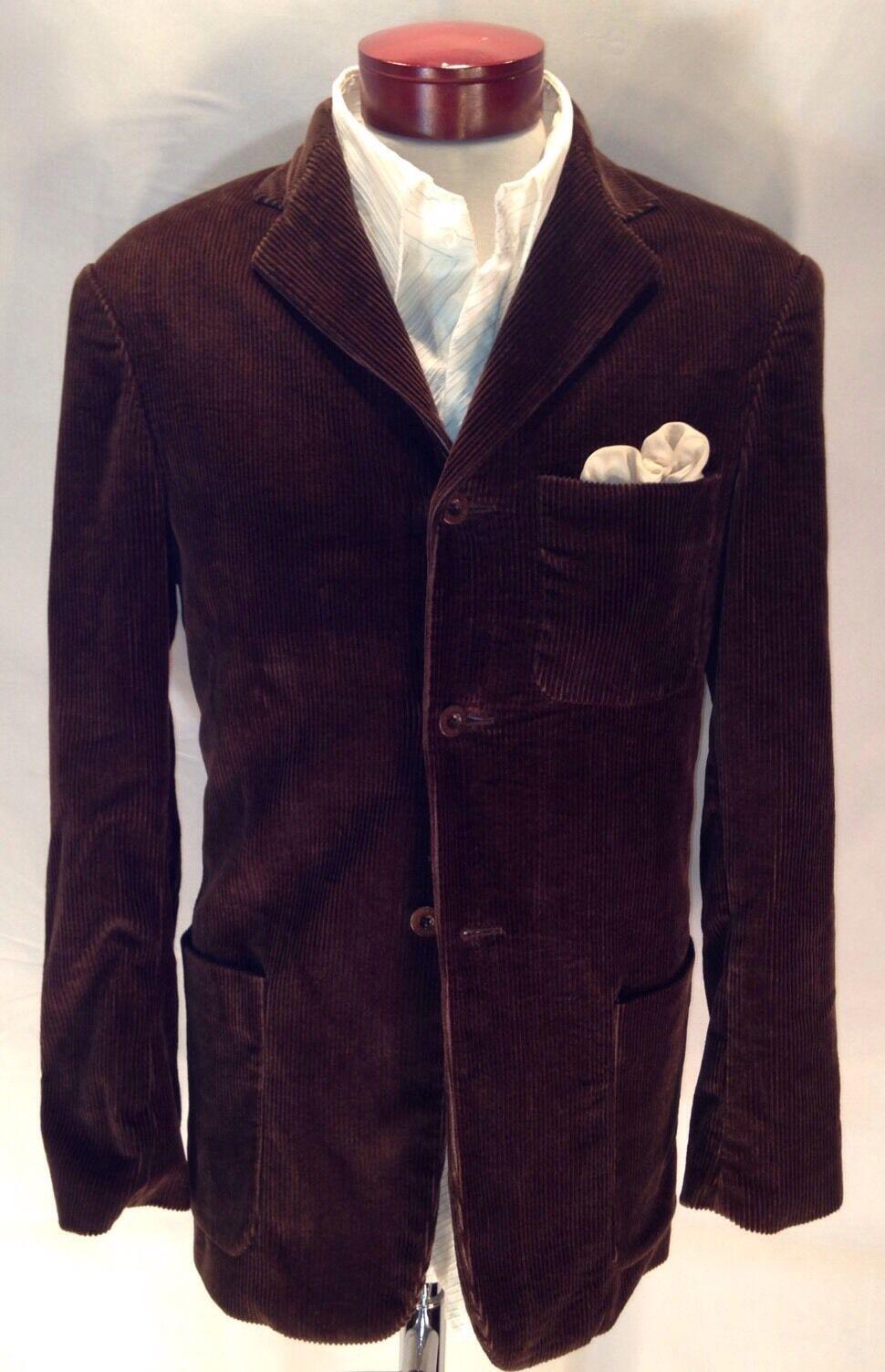 ROBERT GRAHAM Vented grau  Herren Lined Cotton Corduroy Blazer Sports Coat Sz M