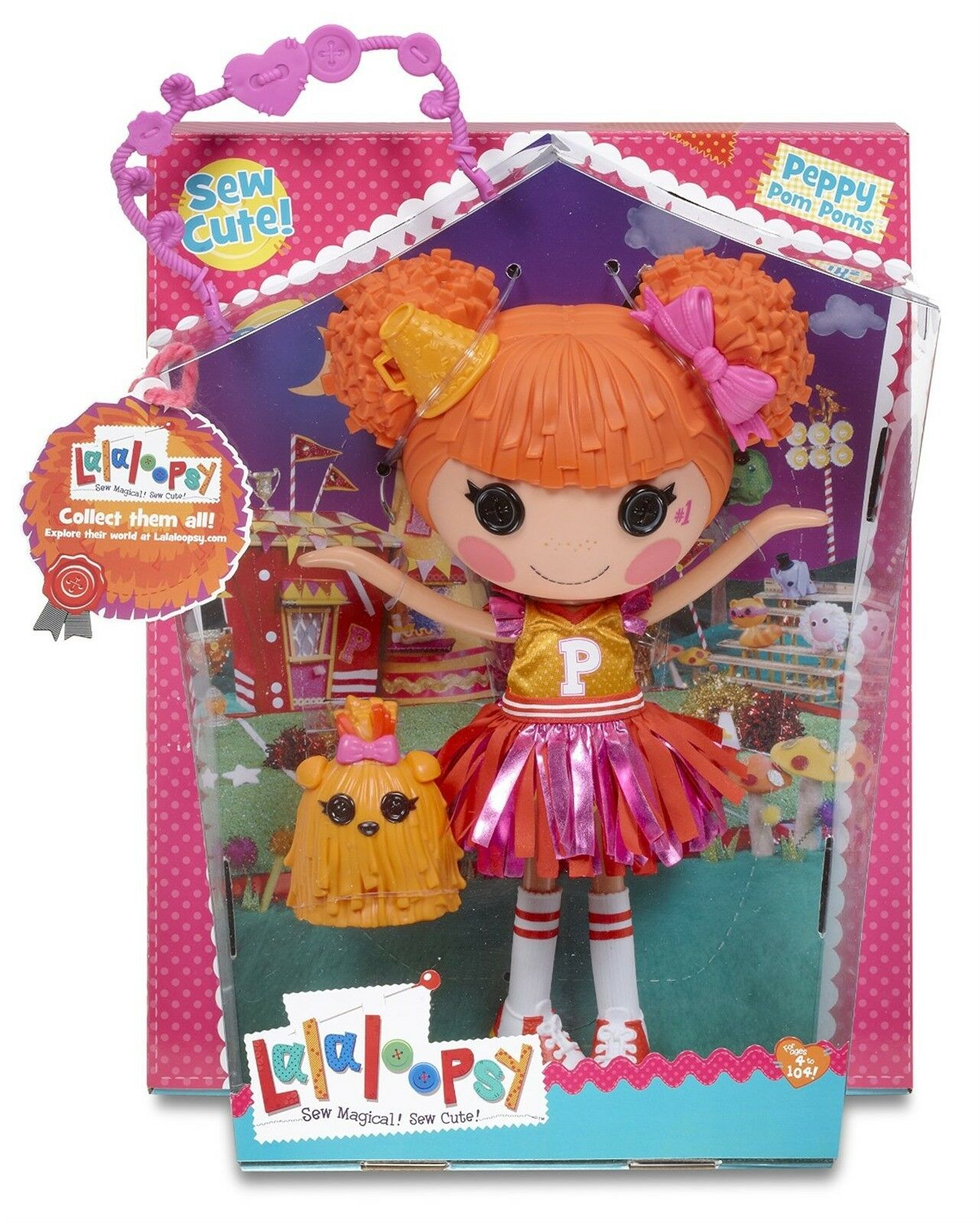 LALALOOPSY PEPPY POM POMS ( LARGE DOLL) By MGA EntertainmentMIB