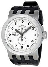 New Men's Invicta 10389 DNA Light Silver Dial Black Silicone Watch