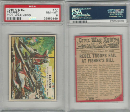 1965 A&BC, Civil War News, #77 Trapped, Fishers Hill, PSA 8 NMMT