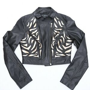 GUESS-BY-MARCIANO-LEATHER-JACKET-WOMEN-100-GENUINE-LEATHER-SIZE-S-NEW-WITH-TAG