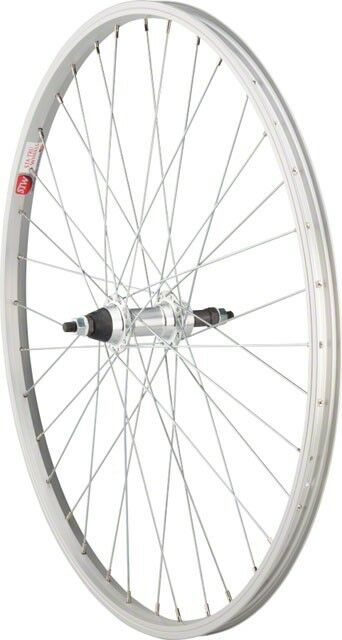 Sta Tru Rear Wheel 26x1.5 Solid Thread on Axle with 36 Spokes 5-8 Speed