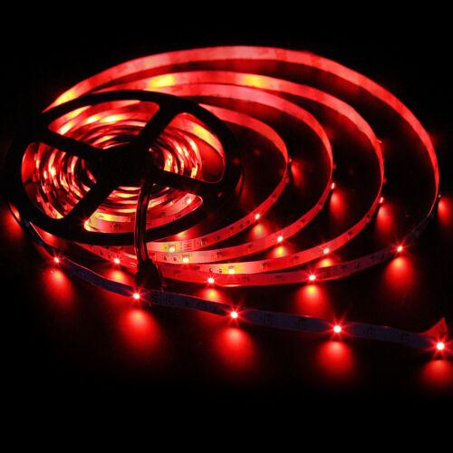 5M 3528 RGB 300 LED Strip Light Kit Non-Waterproof+Power Supply+44keys IR Remote