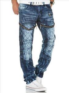 KOSMO-LUPO-Herren-Jeans-Hose-Denim-Zipper-Japan-Style-NEU-KM132