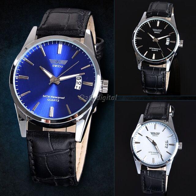 Fashion NEW Mens Stainless Steel Date Waterproof Sport Wrist Watch Quartz Watch