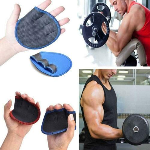 Unisex Anti Skid Gewichtheben Trainingshandschuhe Fitness Hantel Pad Grip O3U9