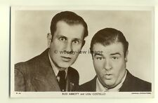b1248 - Film Actors - Bud Abbot & Lou Costello - postcard Picturegoer W698