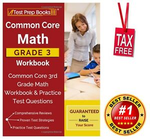 Common Core Math 3rd Grade Workbook Practice Test Questions