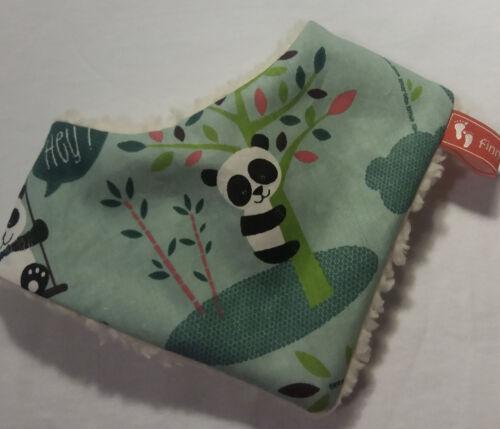 Baby-Halstuch  Kinderhalstuch Sabberschutz Panda--Bären Baumwolle f/&f Teddyseite