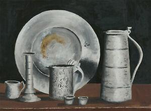 Joe-Evans-20th-Century-Acrylic-Still-Life