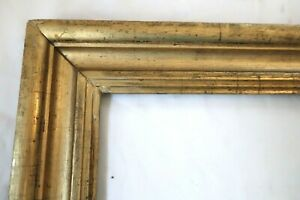 Antique-Fits-14-X-20-034-Lemon-Gold-Gilt-Picture-Frame-Wood-Gesso-Fine-Art-Country