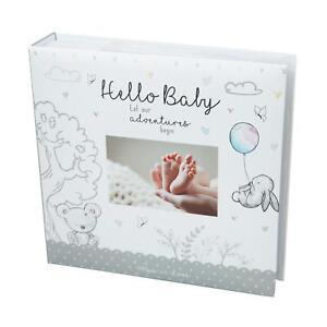 Ravissement Baby First Album Photo 4x6'' 200 Photos Memo Blanc Unisexe Anniversaire Baptême-afficher Le Titre D'origine AgréAble à GoûTer