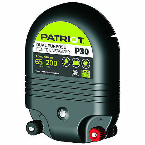 PATRIOT P30 Electric Fence Charger Energizer   65 mile  3J and Free Fence Tester