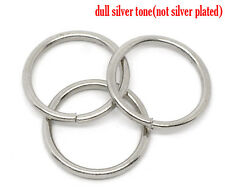 Silver Tone Open Jump Rings 16mm Dia. Findings, pack of 100 SP0145