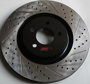 Fits-G35-350Z-Nismo-Drilled-Slotted-Brake-Rotors-Premium-Grade-Front-Pair