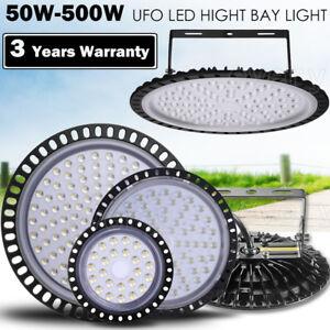 500W 300W 200W 100W 50W LED UFO High Low Bay Light Factory Warehouse Lighting