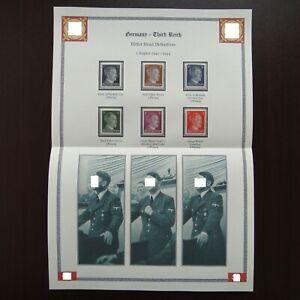 Germany-Nazi-1941-1944-Stamps-MNH-Adolf-Hitler-WWII-Third-Reich-German-Deutsch