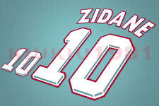 France Zidane #10 World Cup 1998 Homekit Nameset Printing