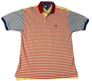 Vintage TOMMY colorblock rugby polo tommy hilfiger tee size M