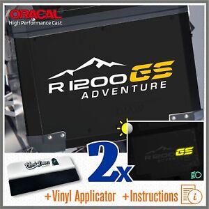 2x-R1200GS-ADVENTURE-Bianco-Giallo-BMW-PEGATINA-ADESIVI-AUTOCOLLANT-STICKERS